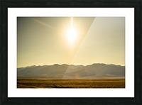 Desert Sun  Picture Frame print