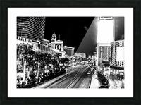 Las Vegas Night Shot B&W Picture Frame print