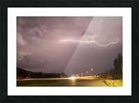 Lightning Catch  Picture Frame print