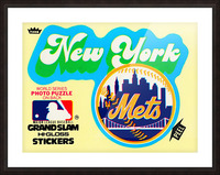 1979 fleer hi gloss sticker new york mets wall art Picture Frame print