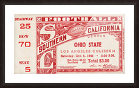 1946 usc ohio state buckeyes football ticket wall art sports gift Picture Frame print