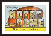 1954 notre dame football south bend art Picture Frame print