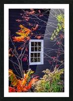 Autumn Window Picture Frame print