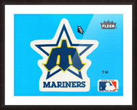 1982 fleer sticker seattle mariners reproduction art Picture Frame print
