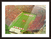1985 nc state wolfpack carter finley stadium raleigh north carolina college football aerial photo Picture Frame print