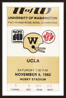 1982 uw huskies washington ucla football ticket stub canvas husky stadium seattle ticket Picture Frame print