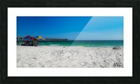 The Emerald Coast Picture Frame print