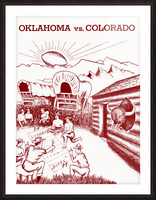 1954 oklahoma sooners colorado buffaloes football program canvas artwork Picture Frame print