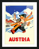 Little Skier from Austria Picture Frame print