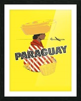 Paraguay Picture Frame print