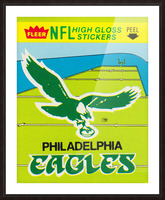 1981 fleer nfl high gloss stickers philadelphia eagles wall art Picture Frame print