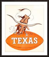 1957 texas longhorns vintage football art Picture Frame print