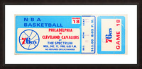 1980 cleveland cavaliers philadelphia 76ers nba basketball ticket art Picture Frame print