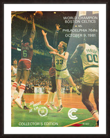 1981 boston celtics philadelphia 76ers larry bird art Picture Frame print