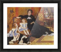 Madame Charpentier and her children Picture Frame print