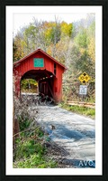 Slaughterhouse Bridge Northfield VT-- Autumn Picture Frame print
