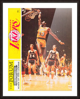 1968 la lakers basketball poster wilt chamberlain dunk photo Picture Frame print