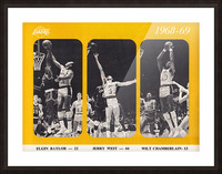 1968 los angeles lakers poster Picture Frame print