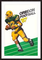 1987 oregon ducks retro football poster Picture Frame print