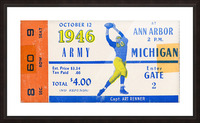 1946 michigan army ann arbor college football ticket art Picture Frame print