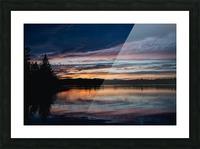 Couleurs sur le lac Impression et Cadre photo