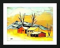 Hot summer in Erda Picture Frame print