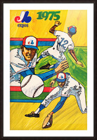 1975 montreal expos baseball art Picture Frame print