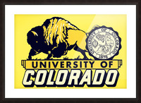1950s vintage college art university of colorado buffaloes boulder Picture Frame print