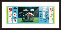 1983_College_Football_SMU vs. UTA_Texas Stadium_Dallas Picture Frame print