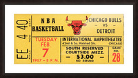 1967 Chicago Bulls 1st Season Ticket Art Picture Frame print