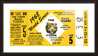1968 Detroit Tigers World Series Ticket Art Picture Frame print