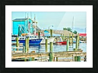 Fishy Fish  Cafe Harbor View Picture Frame print