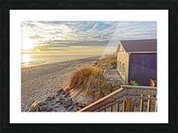 Oak Island Pier View Picture Frame print