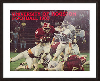 1983 houston cougars football Picture Frame print