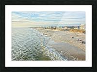 Oak Island Pier View2  Picture Frame print