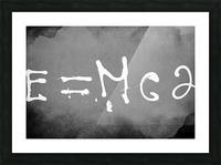 E=mc2 Picture Frame print