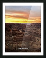 Canyon Sunset Picture Frame print