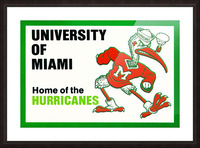 university of miami home of the hurricanes Picture Frame print