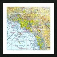 LA & San Diego Aeronautical Wall Art Picture Frame print