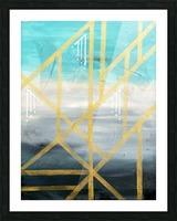 Art deco geometric III Picture Frame print