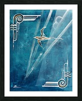 Art deco Swallow  Picture Frame print