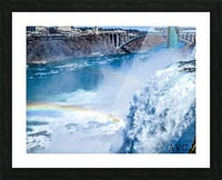 Waterfall Rainbow Picture Frame print