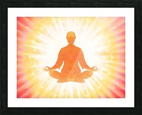 In Meditation - Be The Light Picture Frame print