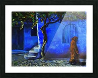 Blue city Picture Frame print