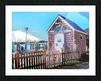 Yacht Basin boathouse Picture Frame print