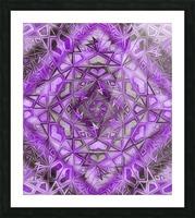 Purple Fractal Kaleidoscope Handdrawing Picture Frame print