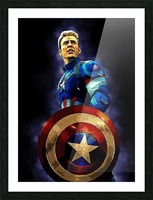 Captain America Picture Frame print