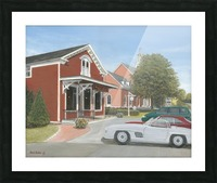 Town Hall and Store - Newtown Series 16X20  Picture Frame print