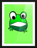 cute little frog Picture Frame print