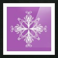 symmetrical doodle Picture Frame print